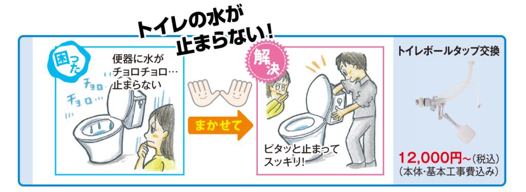 トイレの水が止まらない!